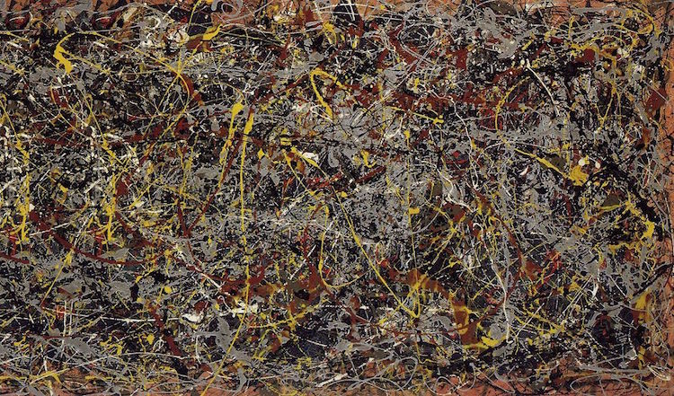Jackson Pollock Line Art