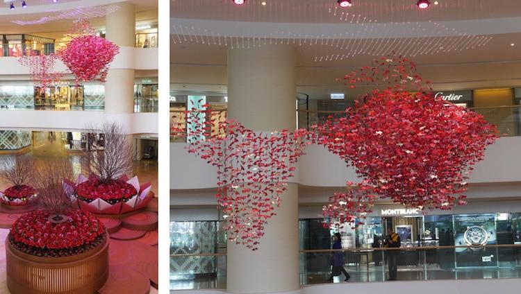 Instalación de origami de Jacqui Simmons