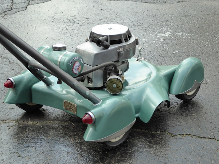 retro lawn mower classic car lawn mower DIY lawn mower creative project jeep2003
