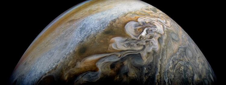 Photos of Jupiter from Juno Cam