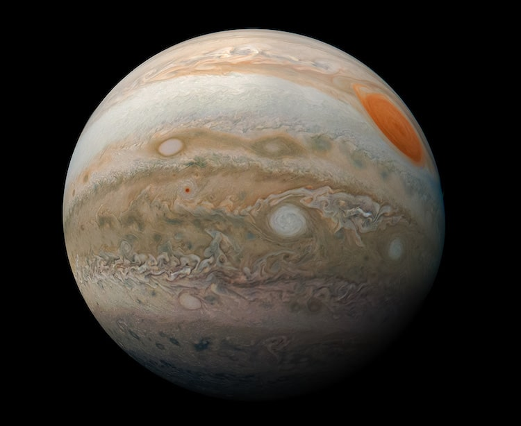 Photo of Jupiter by the Juno Cam