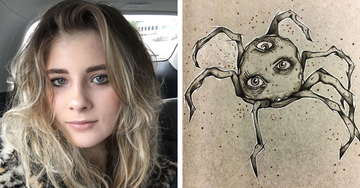 18 Year Old Creates Schizophrenia Drawings To Cope With Hallucinations