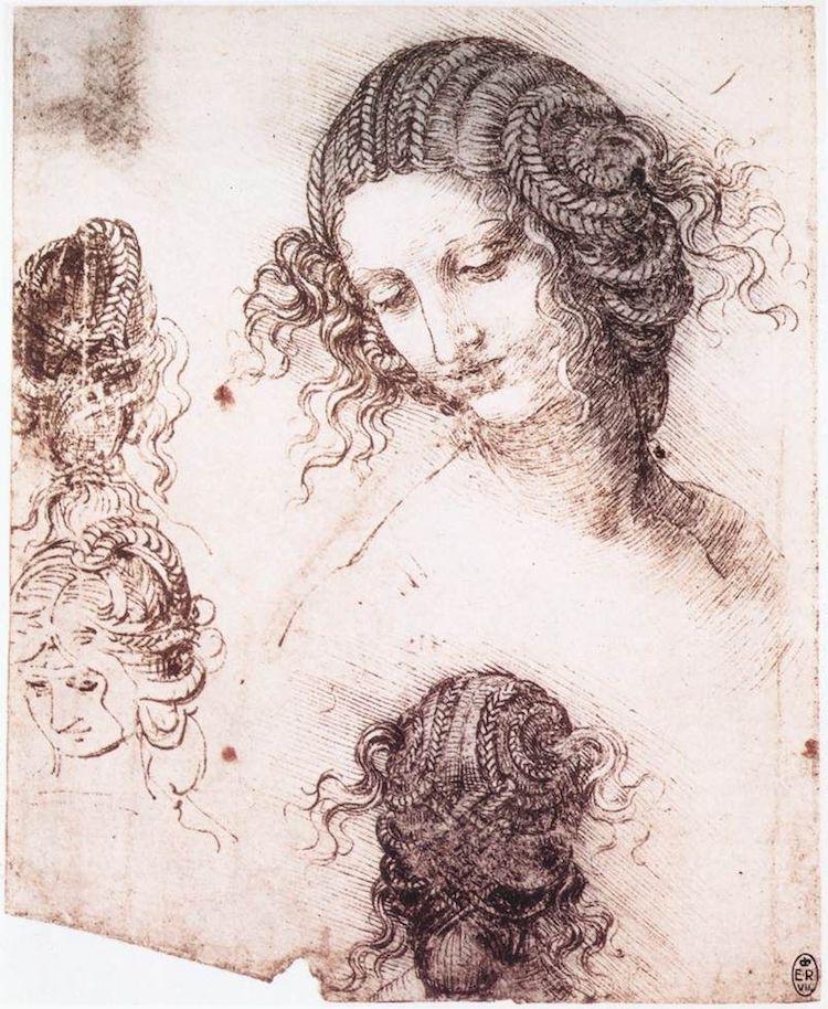 Leda Sketch by Leonardo da Vinci