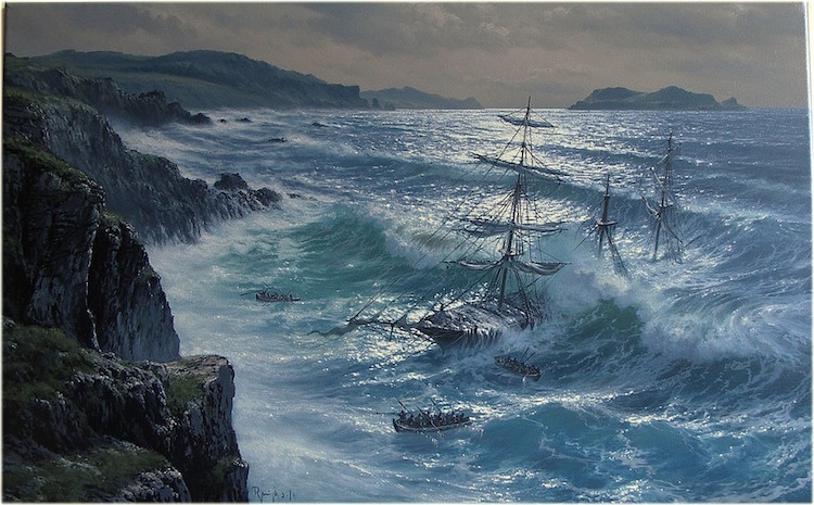 Seascape paintings pay homage to the majesty of the ocean for Paesaggi marini dipinti