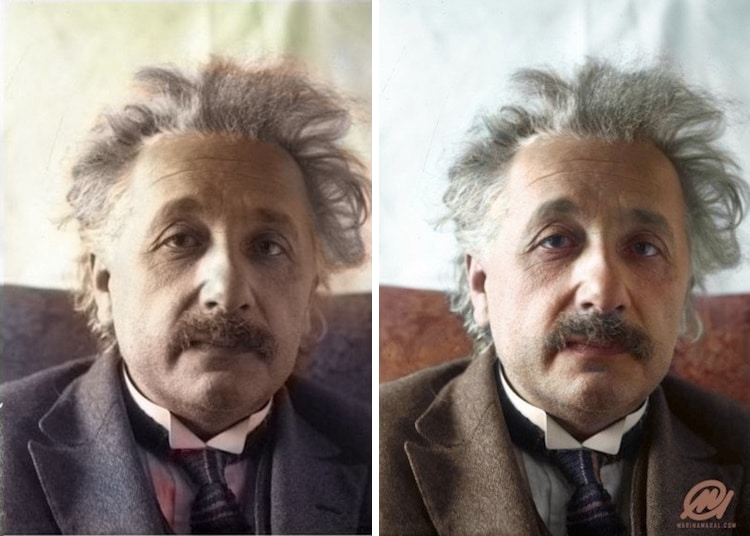 colorized black and white photo