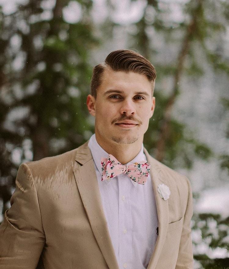 flower skinny tie