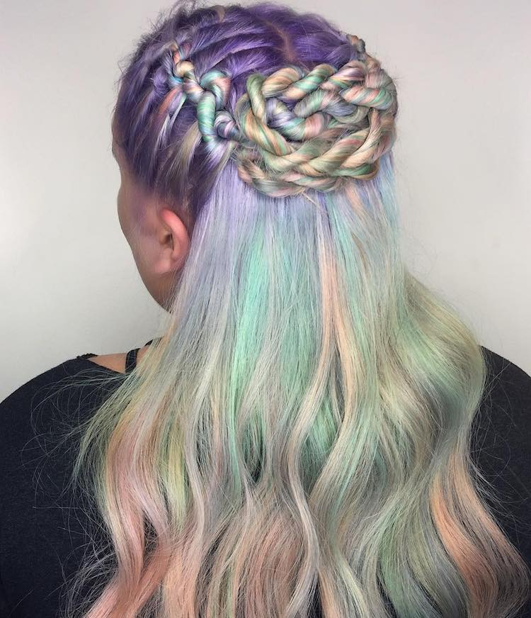 creative hair braiding
