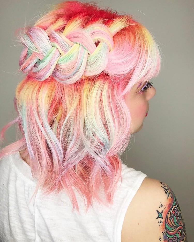pastel braids