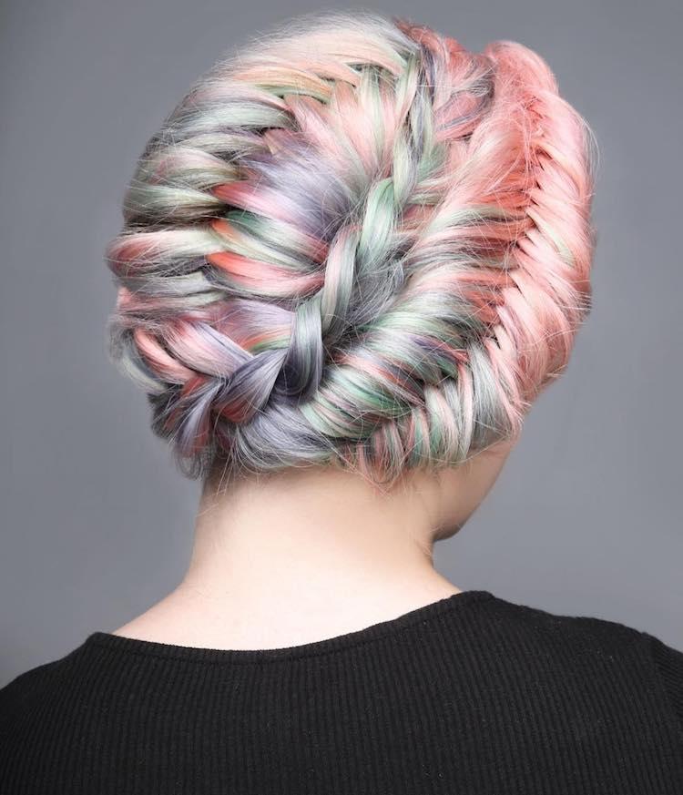 creative hair braiding