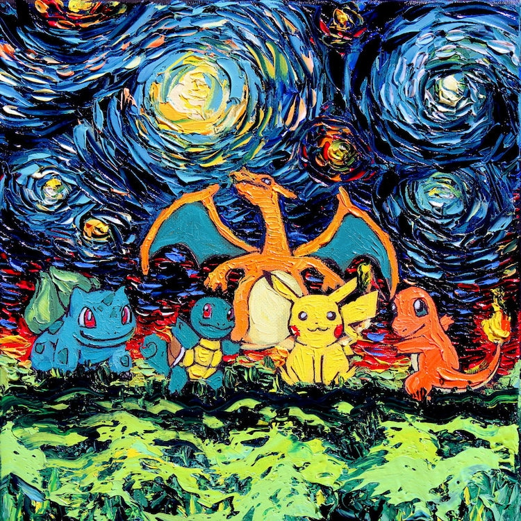 Pop Culture Starry Night Pop Culture Impressionism Cartoon Van Gogh Painting Aja Kusick