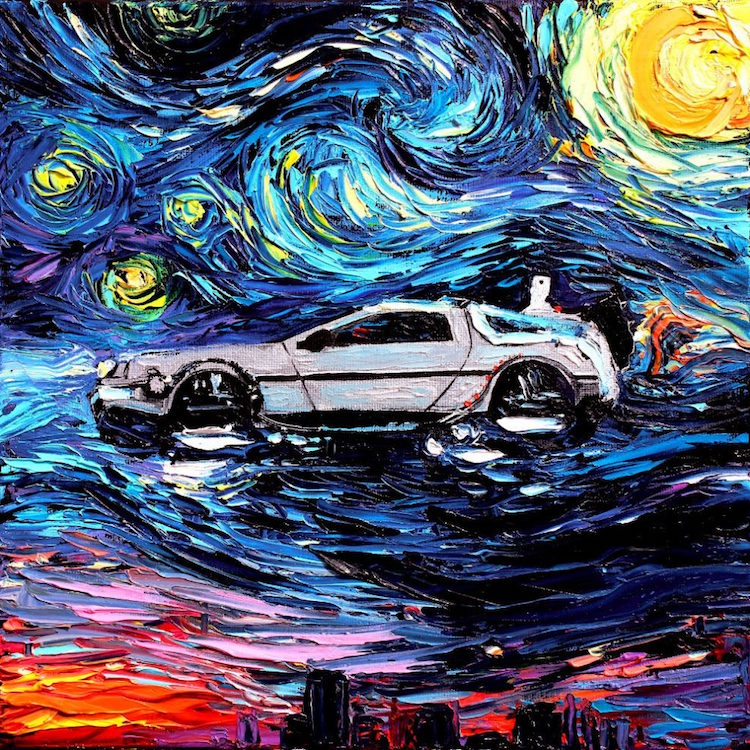 Pop Culture Starry Night Pop Culture Impressionism Cartoon Van Gogh Painting Van Gogh Never Aja Kusick