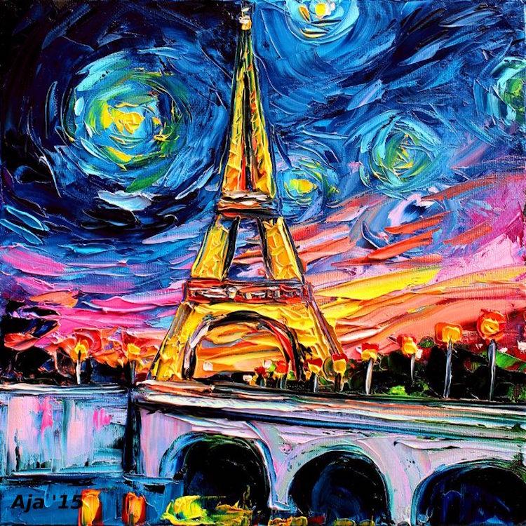 Pop Culture Starry Night Pop Culture Post-Impressionism Cartoon Van Gogh Painting Van Gogh Never Aja Kusick