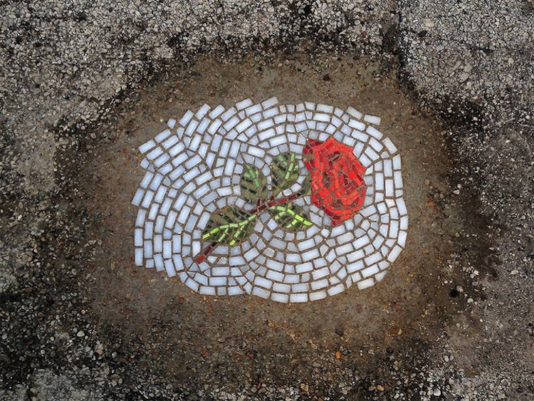 Pothole Flowers Flower Protest Guerrilla Gardening Protest Art Pothole Art NeSpoon