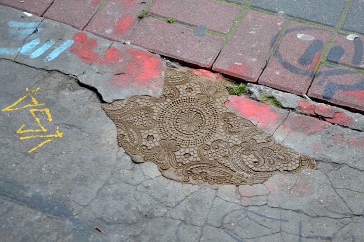 Pothole Repair Art by Nespoon