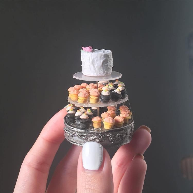 tiny art cakes