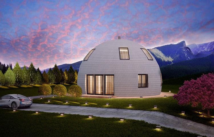 circular modular home domed house