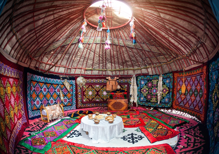 yurt Kazakhstan interior