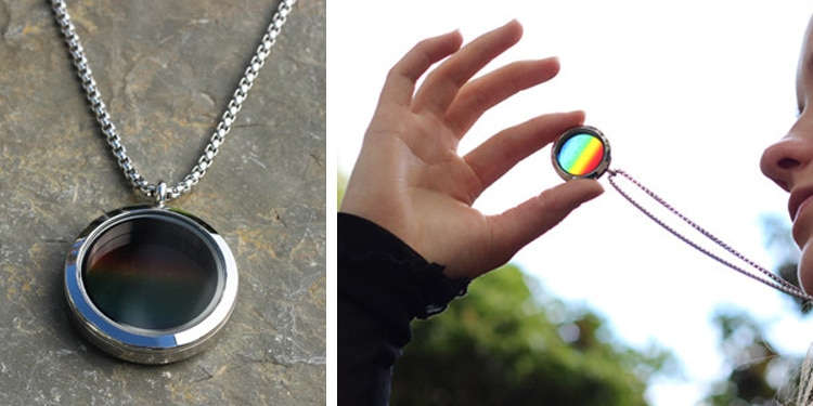 science jewelry for sale solar spectrum translucent locket