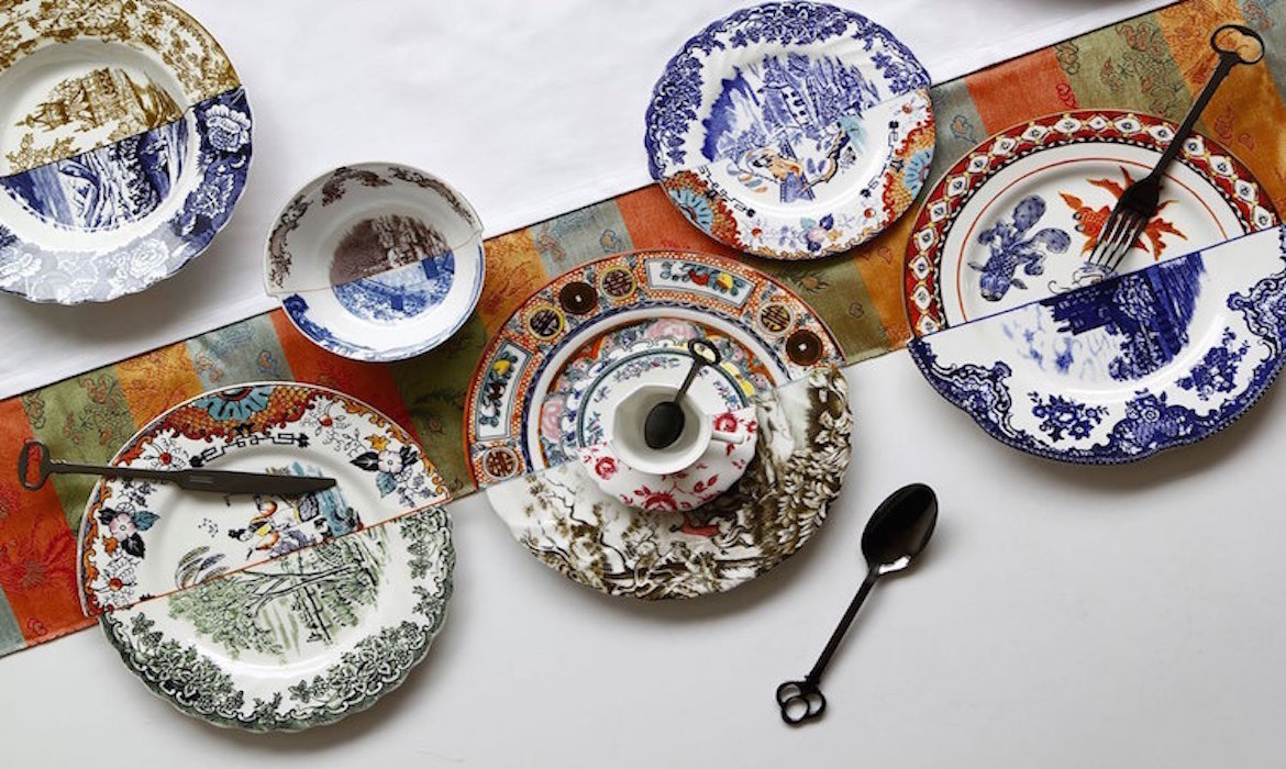 The Hybrid collection from the Italian company Seletti features strikingly exquisite plates bowls teacups and saucers that juxtapose traditional Eastern ... : tableware ceramics - pezcame.com
