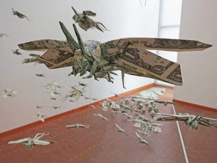 Origami contemporáneo de Sipho Mibona