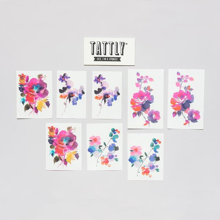 temporary watercolor tattoos