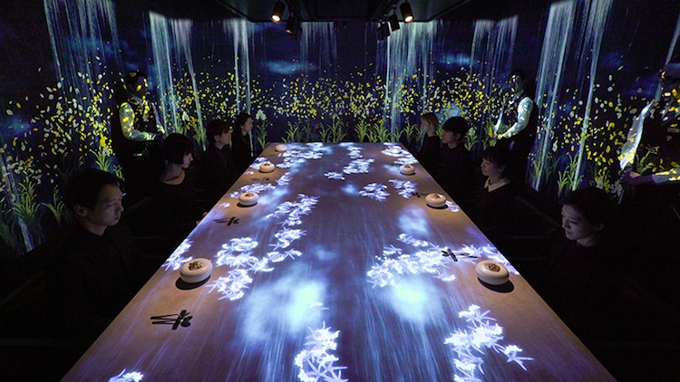 teamlab digital installation