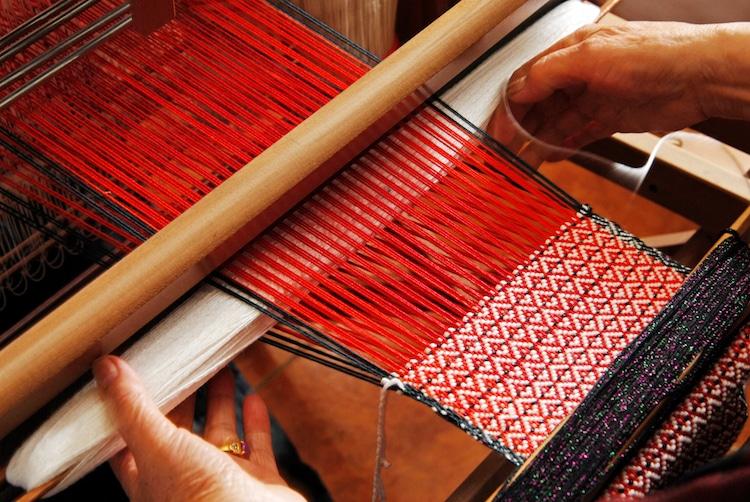 Weaving on a Loom