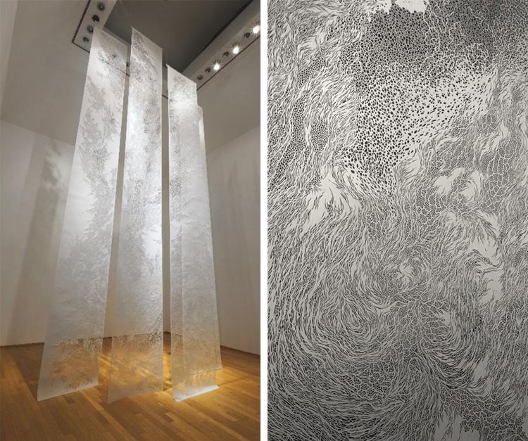 Cut Paper Art Tapestries Tomoko Shioyasu