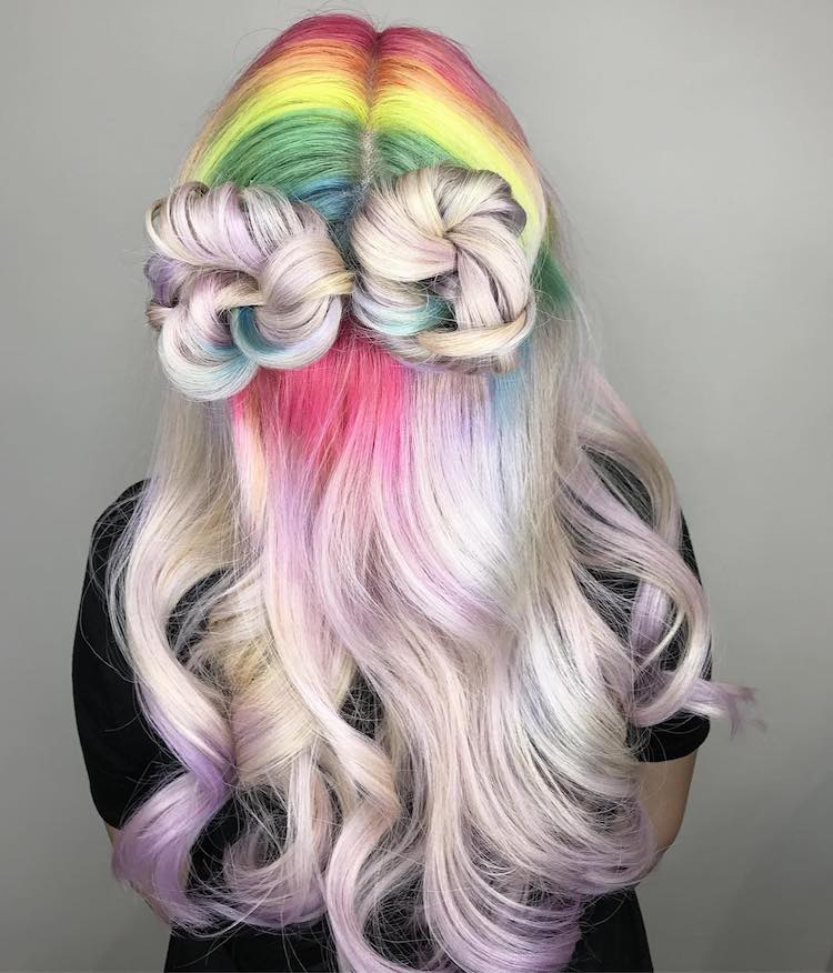 colorful dyed hair