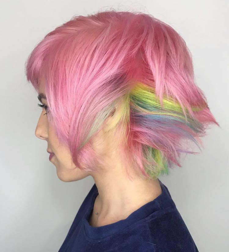 colorful hair trends