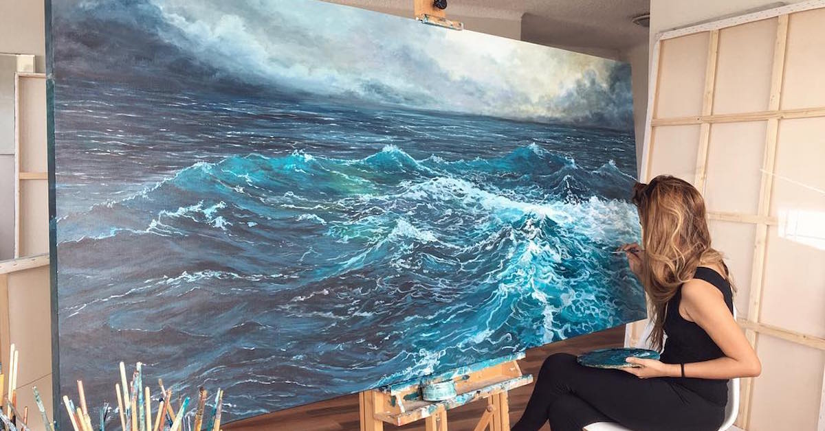 Paintings Of Waves By Vanessa Mae Capture Motion Of The