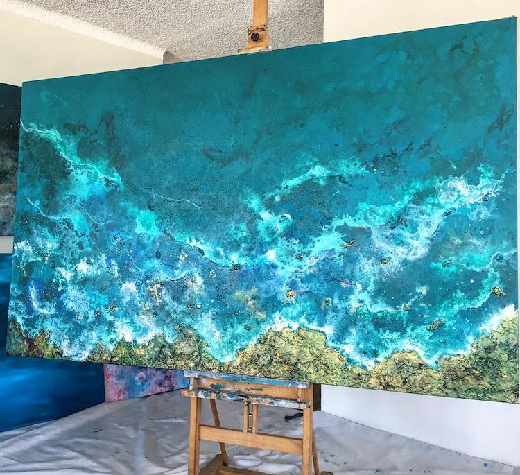 Ocean Wave Paintings by Vanessa Mae