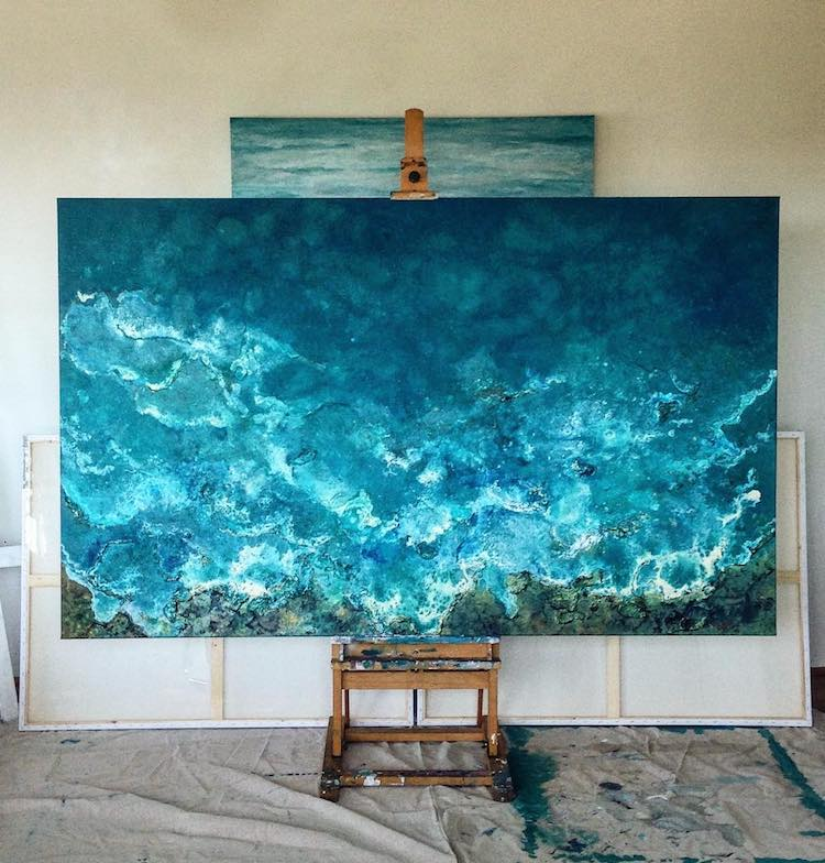 Wave Painting by Vanessa Mae