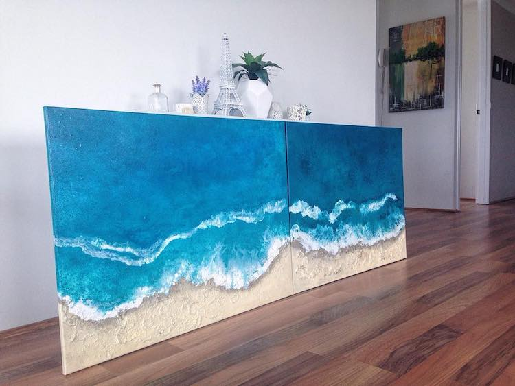Blue Wave Paintings by Vanessa Mae