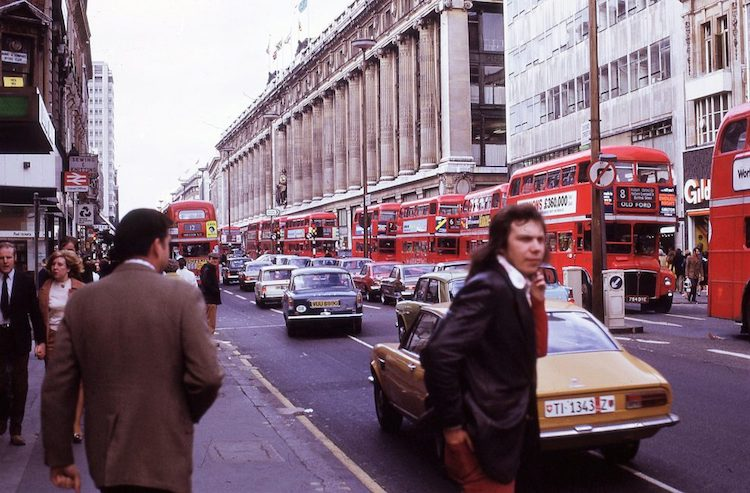 color photographs of london in the 1970s by anonymous photographer