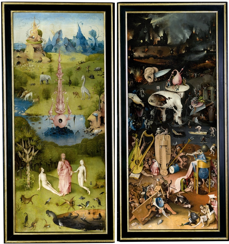 detail garden of earthly delights triptych bosch