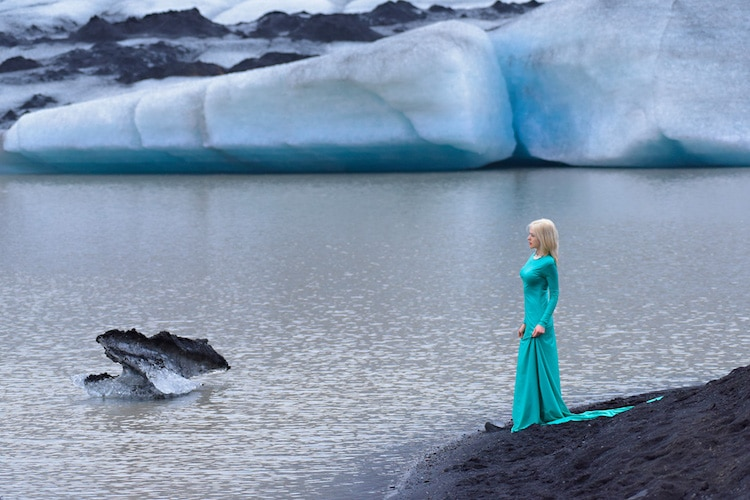 Dramatic Photos of Iceland Show Model Immersed in Glorious