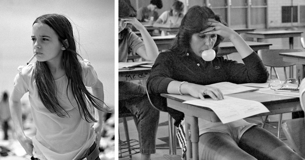 70s high school teacher candidly photographs his students