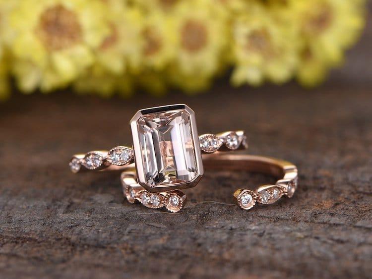 Amazon Wedding Shop art deco engagement ring