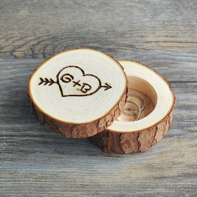 Amazon Wedding Shop Wood ring box