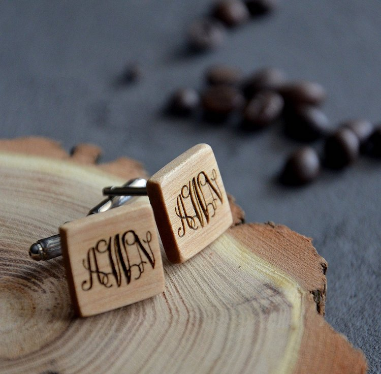 Amazon Wedding Shop wood cufflinks