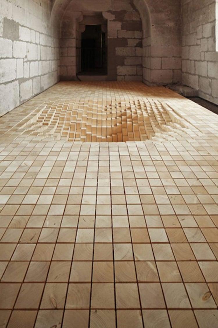 Architectural Art Installation Trippy Art Byme Architecture Fanny Bouchet Emmanuelle Messier Debarrassons le Plancher