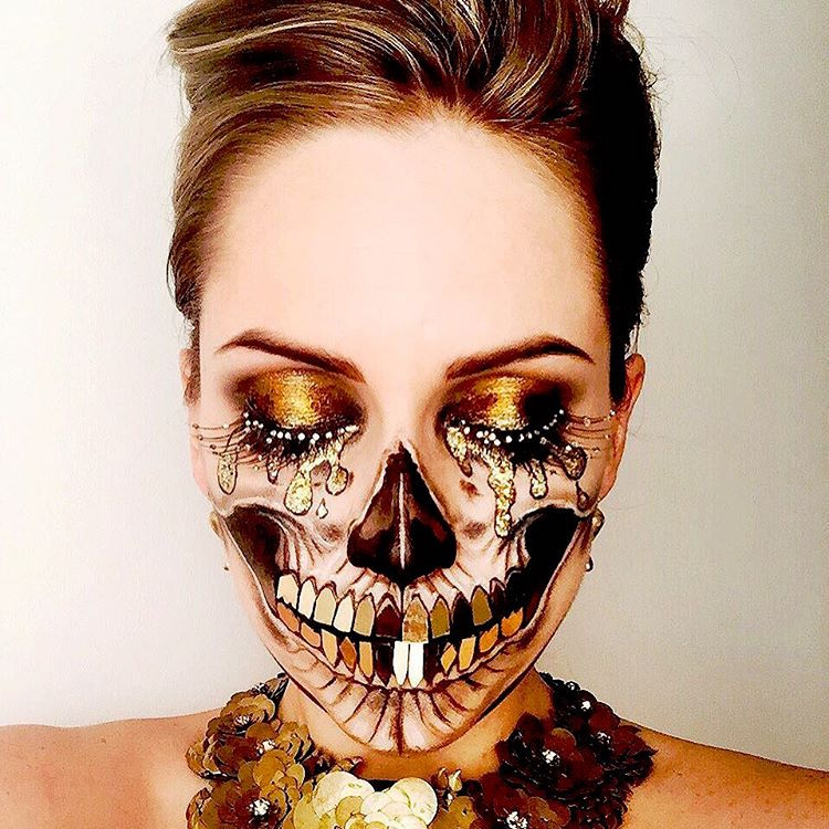 Artistic Face Paint Makeup Art Vanessa Davis The Skulltress Skull Makeup