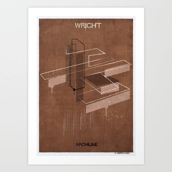 Frank Lloyd Wright Inspired Tote Bag Etmeusmoi Art Print Federico Babina
