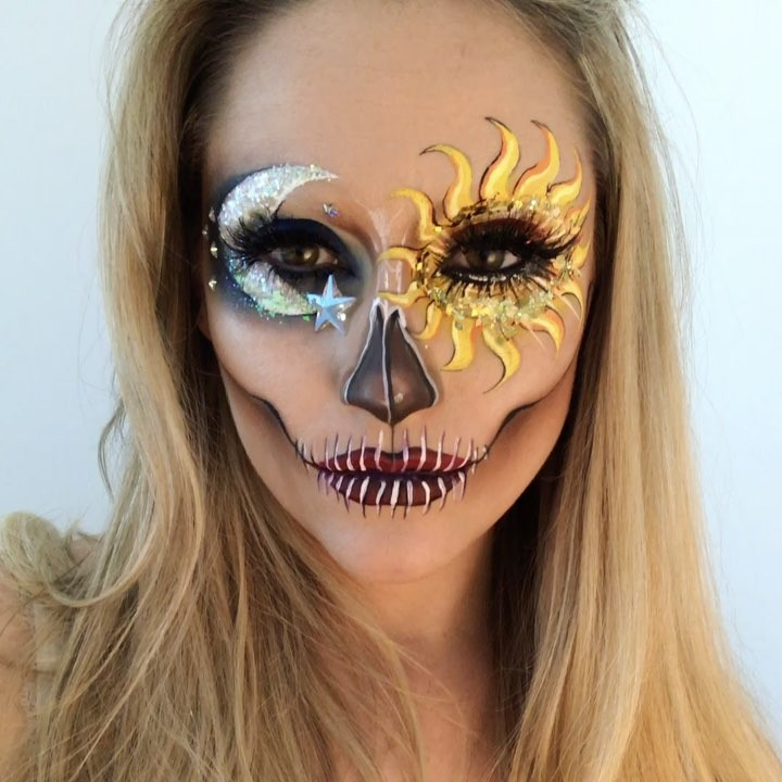 Beautiful Skeleton Makeup Art by Vanessa Davis