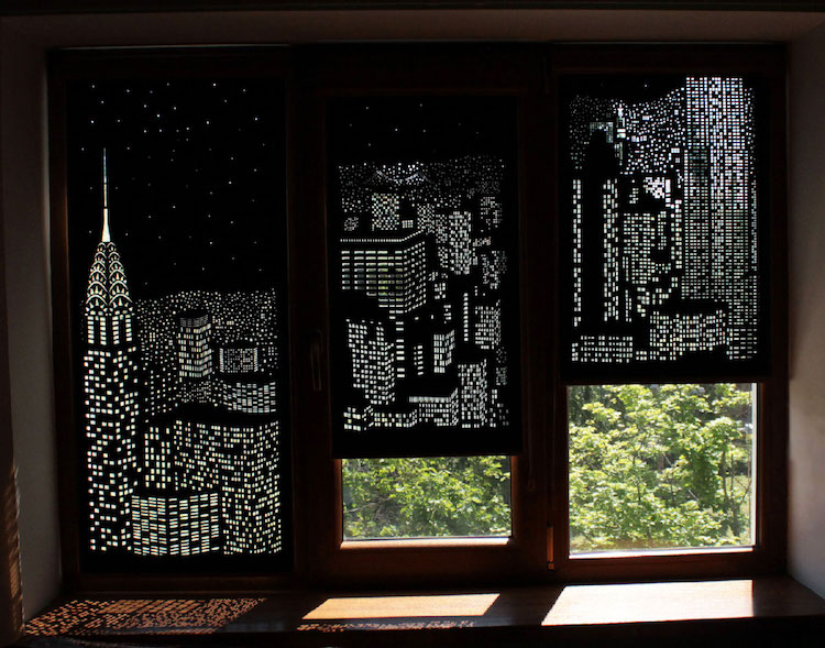 Modern Blinds For Windows Double As Spectacular Shadow Art