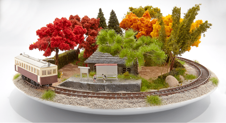 Dioramas Combines Model Trains and Bonsai in Celebration of Japan