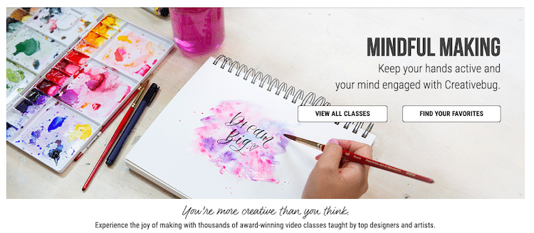 Online Craft Classes with Creativebug