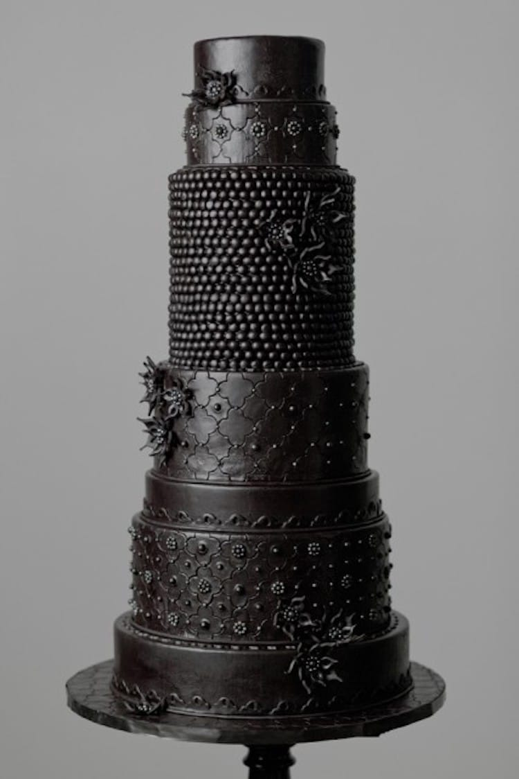 Black Wedding Cake