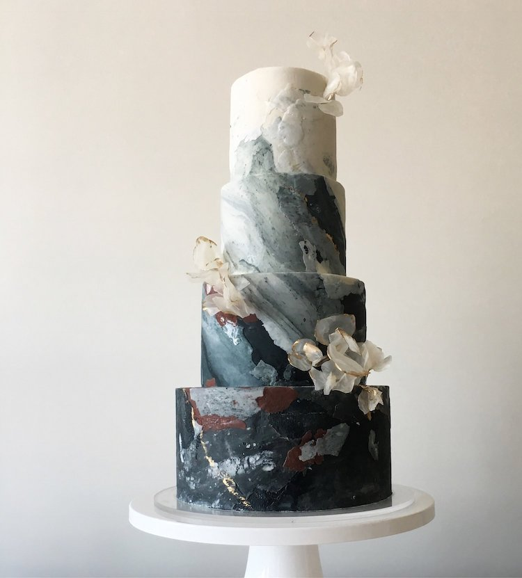 Dark Wedding Cakes